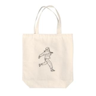 風をきって Tote bags
