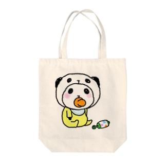 ベイビーパンダinぱんだ(ガラガラ) Tote bags