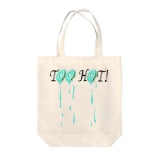 Too Hot! ブルー・ドーナツ(ドロドロ)トート Tote bags