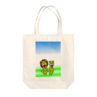 ライオン夫妻 Tote bags