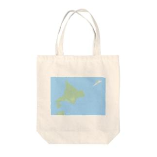抽象化された北海道先輩 Tote bags