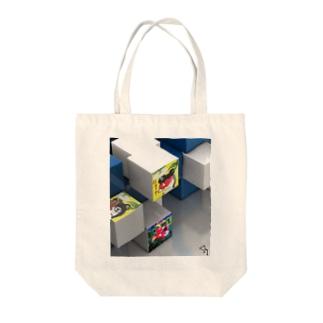 伝説の、にょ☆キュ~ブ Tote bags