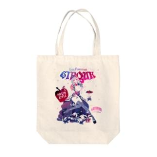 白雪姫と小人のサーカステント Tote bags