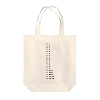 数の単位 Tote bags