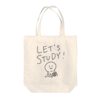 LET'S STUDY Tote bags