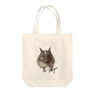 kanako-mikanのデグーのチョビ Tote bags