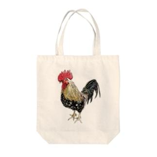 カッコイイ鶏 Tote bags