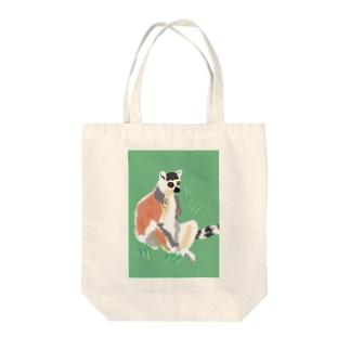 アメコミ風×ワオキツネザル Tote bags