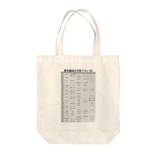 基本動詞30黒 Tote bags