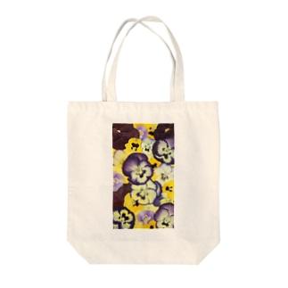 ホワイトブーケオリジナル パンジー Tote bags