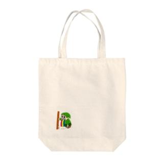 吐いてるドワーフ Tote bags