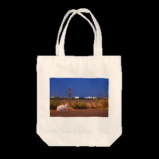 拓庵の猫の夕涼み ~夜景~ Tote bags