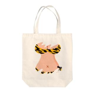 りおたのおっぱいTシャツ(トラ柄) Tote bags