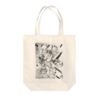 モノクロ1 Tote bags