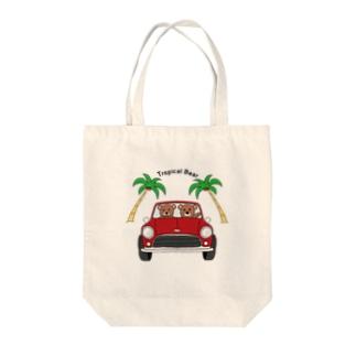 Tropical Bear トロピカルベアー Tote bags