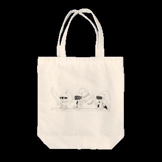 ウサネコのナイツ・ライン 6 Tote bags