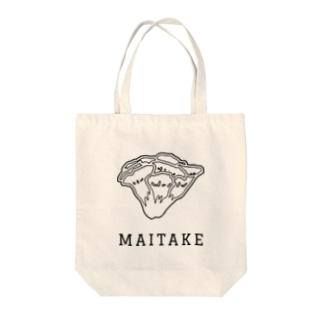 マイタケ_黒線 Tote bags