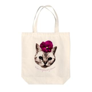 パンジー・チョコ Tote bags