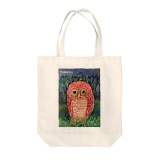 お散歩フクロウ Tote bags