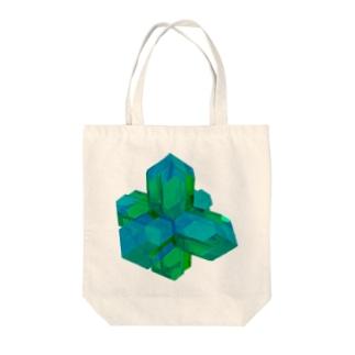 灰十字沸石(緑) Tote bags