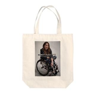 ロゴ入りで笑ってるよシリーズ Tote bags