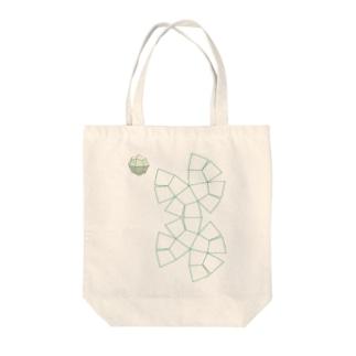 柘榴石(24面体結晶図+展開図) Tote bags