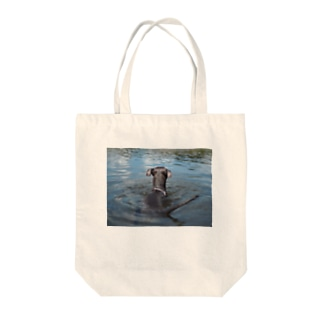 ずぶ濡れネズミ Tote bags
