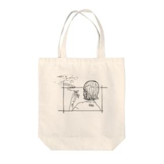 夜明けちゃん Tote bags