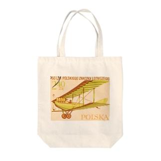 ポーランドの切手:航空郵便 Tote bags