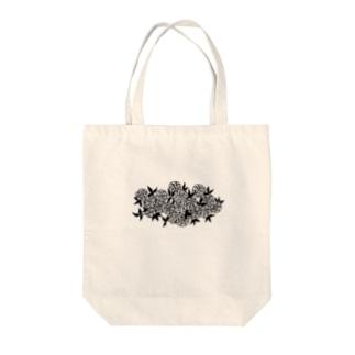 ばらの群生 Tote bags