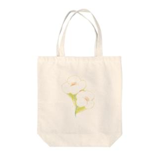 お花のあわせ Tote bags