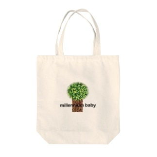 Millennium baby wood Tote bags
