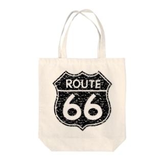 ルート66 Tote bags