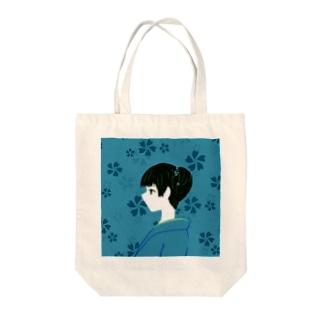"""日々""""彩""""【花浅葱】 Tote bags"""