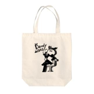 ダンディうさぎさん Tote bags