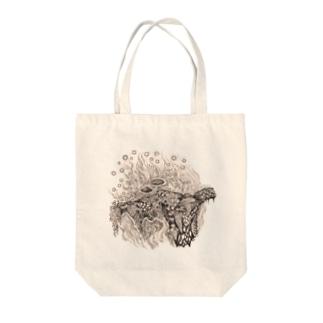 菌類の森 Tote bags