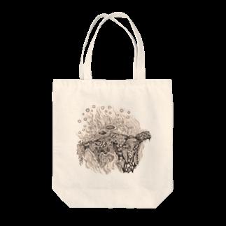 どろーいんぐ屋の菌類の森 Tote bags