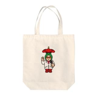 ハイビスカス博士【沖縄SOUKOデザイン】 Tote bags