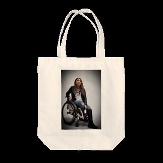 中嶋涼子の車椅子ですがなにか?!のロゴなしシリーズ Tote bags