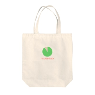 I GUESS SO. Tote bags