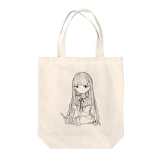 泣かないでちゃん Tote bags