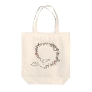花と鳥と Tote bags