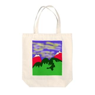 JUJNSEN SETA(瀬田 純仙)令和の夏山1 Tote bags