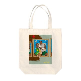 the boys Tote bags