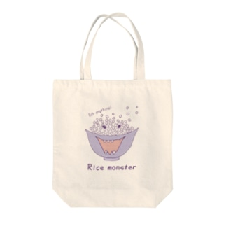Rice monster  Tote bags