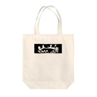 ミルククラウン Tote bags