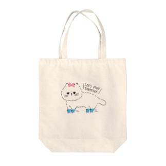 ローラーねこちゃん Tote bags