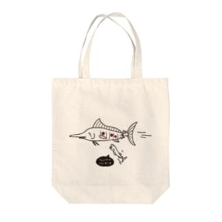 だるまざめ Tote bags