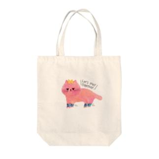ローラーねこちゃん カラー Tote bags