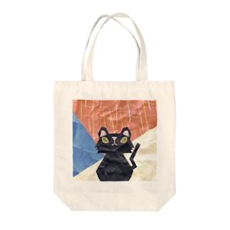 クラフト猫ロイロ Tote bags